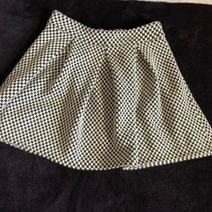 Bethany Mota plaid textured skirt